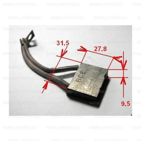 SET 4 KS, BRUSH 9, 5X31, 5X27, 8 FOR ELECTRIC DRIVE MOTOR, CLARK TM10L