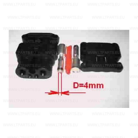 CONNECTOR REMA FT80 / 25 STECKDOSE, BLACK FAMALE, 2641663, 7108120100